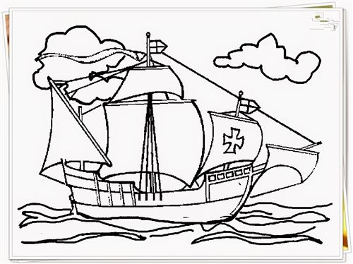 Beautiful Printable Pictures Of Christopher Columbus Ships