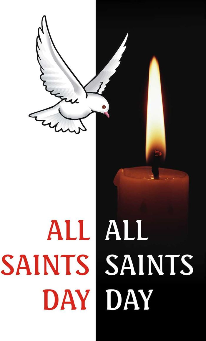 Beautiful All Saints Day Graphics Design