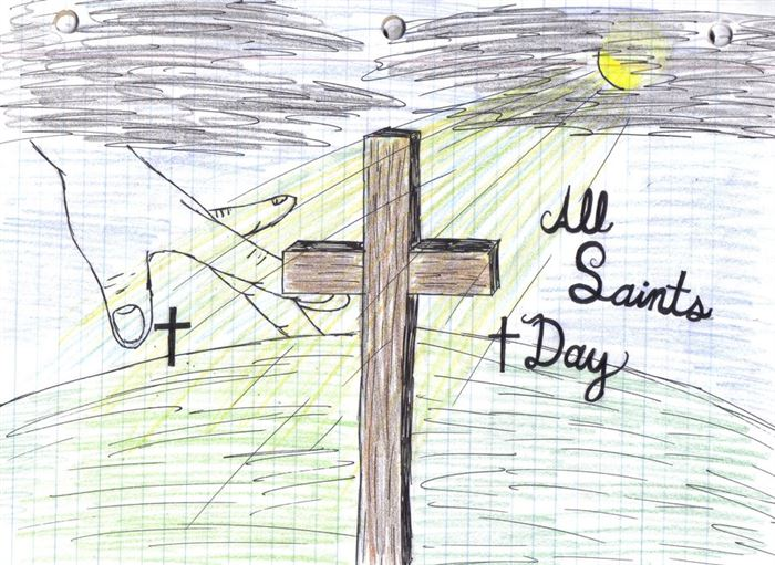 Unique All Saints Day Graphics Design