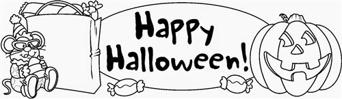 Beautiful Black And White Halloween Clip Art