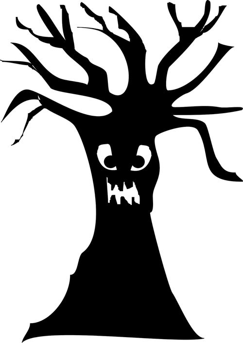 Beautiful Halloween Trees Clip Art
