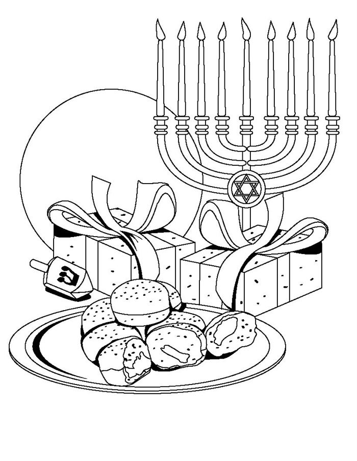 Beautiful Happy Hanukkah Images To Print And Color