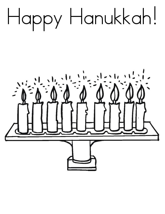 Unique Happy Hanukkah Images To Print And Color
