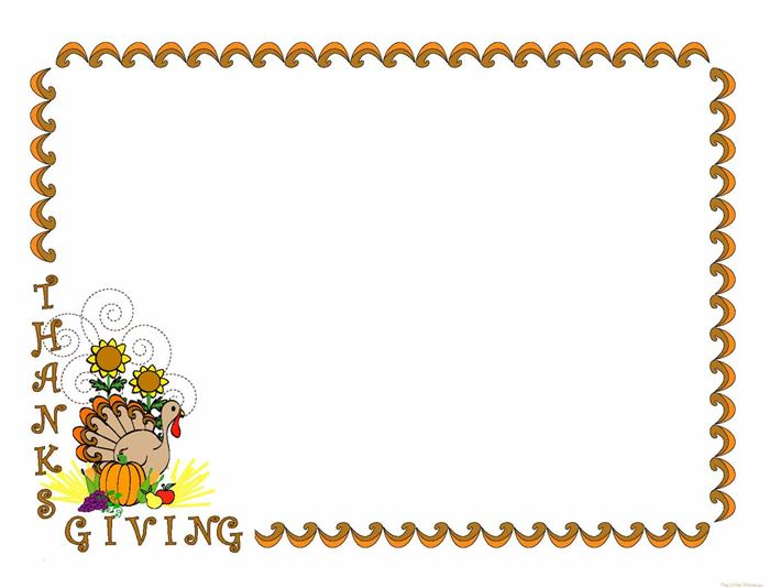 Beautiful Happy Thanksgiving Borders Clip Art