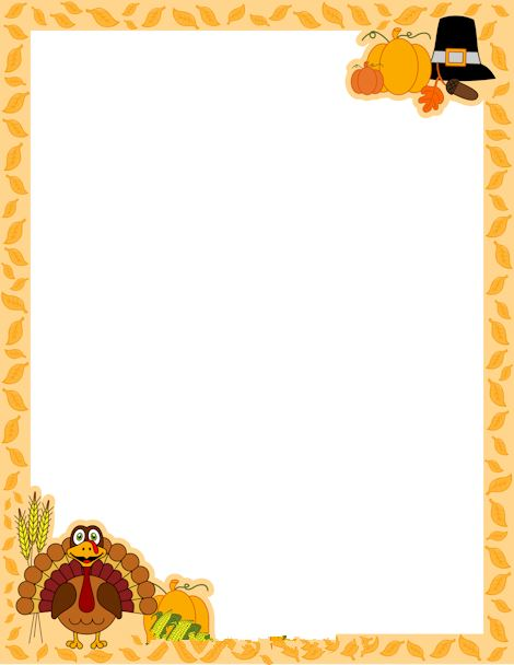Best Free Happy Thanksgiving Borders Clip Art