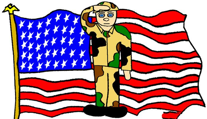 Meaningful Happy Veterans Day Flags Clip Art