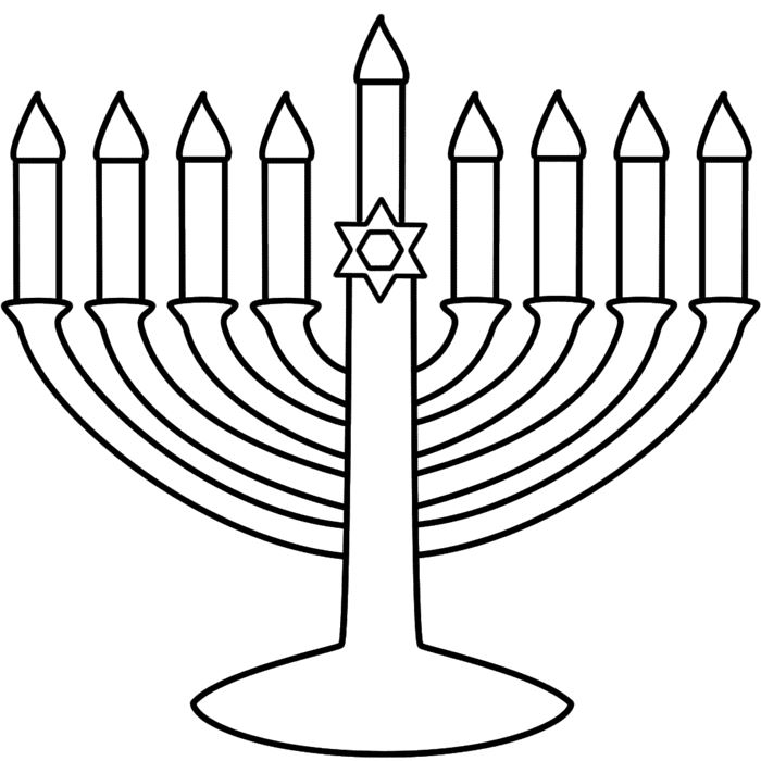 Meaningful Happy Hanukkah Clip Art Black And White