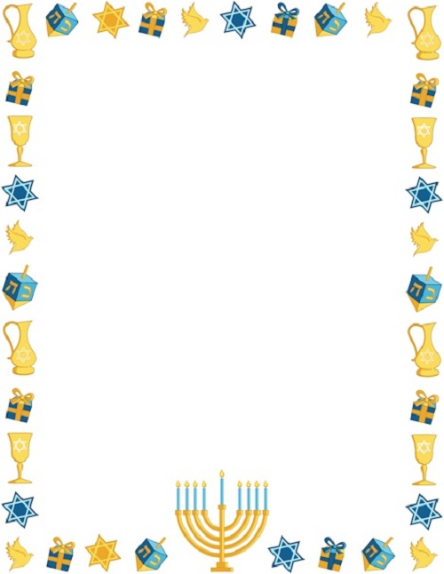 Beautiful Free Happy Hanukkah Clip Art Borders