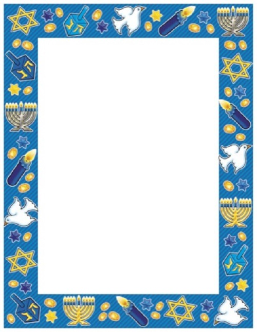 Unique Happy Hanukkah Clip Art Borders Free