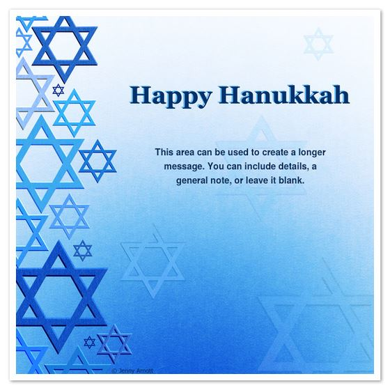 Best Free Happy Hanukkah Photo Card Template