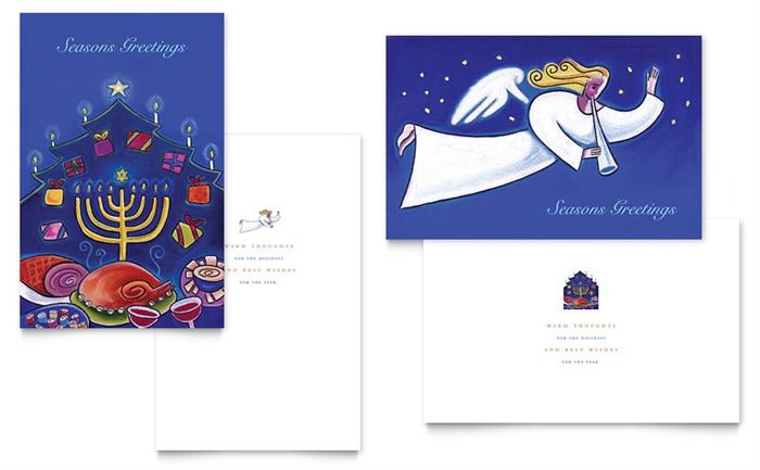 Free Beautiful Happy Hanukkah Photo Card Template