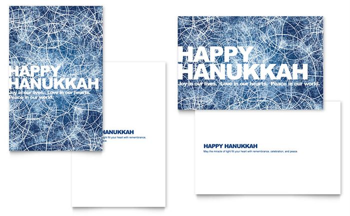 Meaningful Happy Hanukkah Photo Card Template