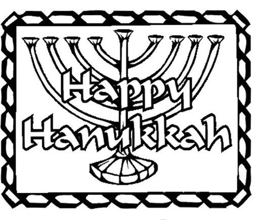 Free Meaningful Happy Hanukkah Pictures To Color