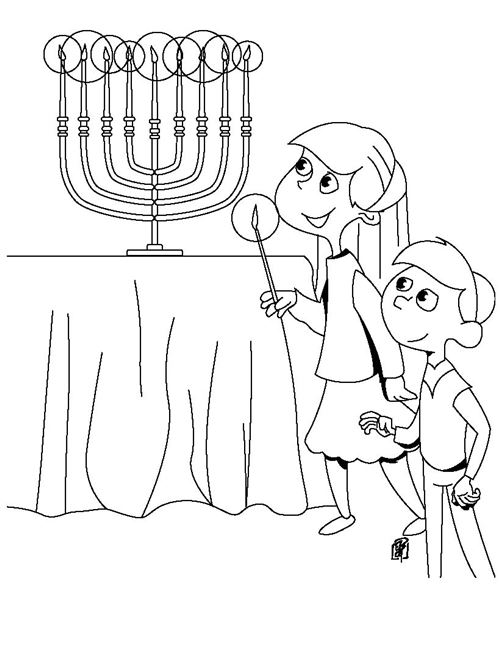Beautiful Happy Hanukkah Pictures To Color Free