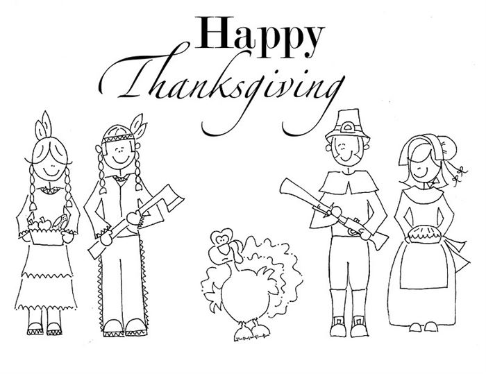 Best Free Happy Thanksgiving Pictures To Color