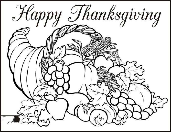 Beautiful Happy Thanksgiving Pictures To Color