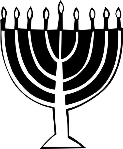 Beautiful Happy Hanukkah Clip Art Menorahs