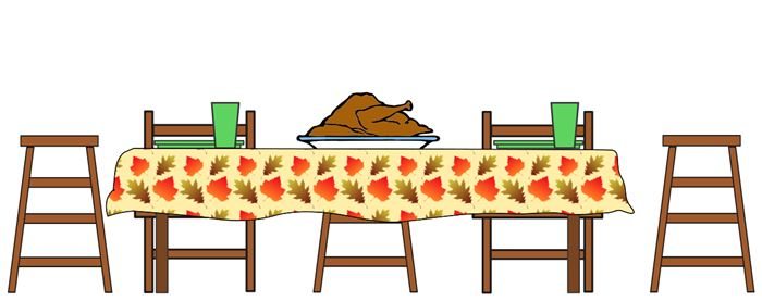 Best Free Thanksgiving Dinner Plate Clip Art