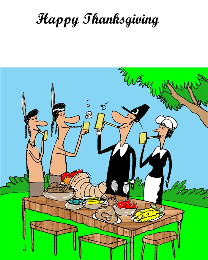 Best Funny Happy Thanksgiving Cartoons Pictures