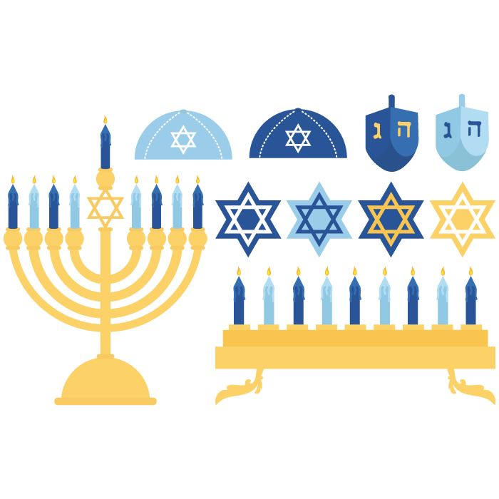 Beautiful Free Clip Art Happy Hanukkah Candles