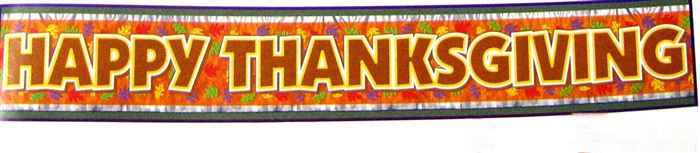 Meaningful Happy Thanksgiving Clip Art Banners