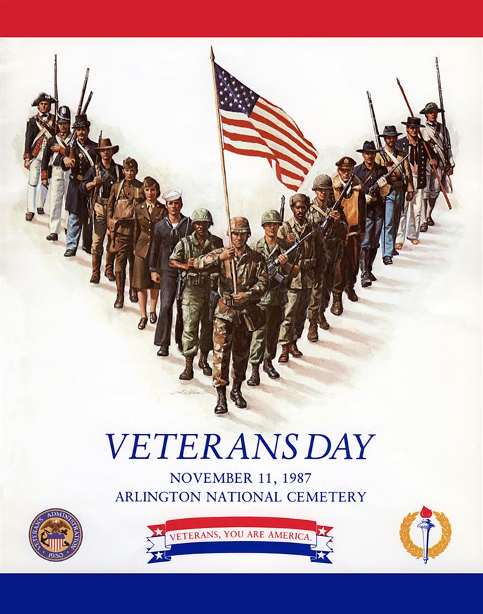 Beautiful Happy Veterans Day Poster Projects