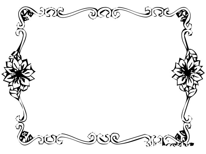 Beautiful Black And White Christmas Border Images