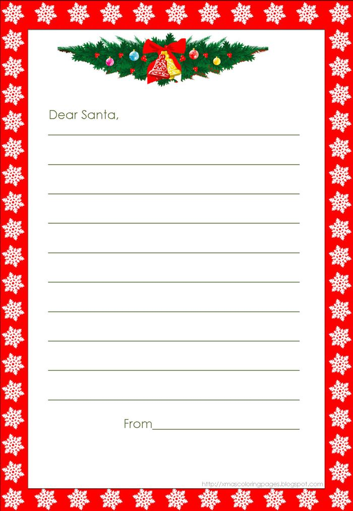Unique Christmas Borders For Letters To Santa
