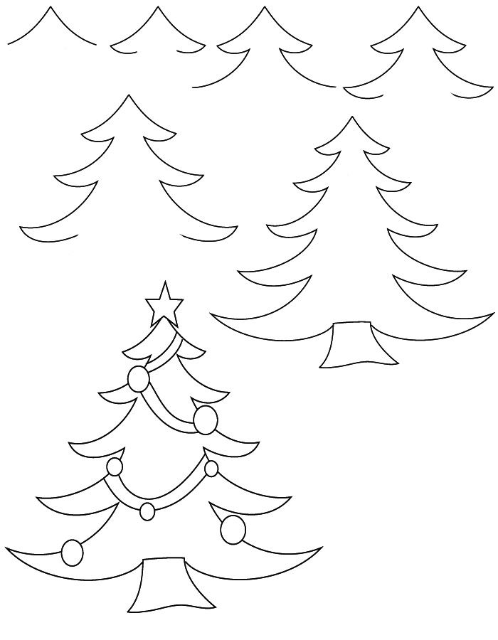 Beautiful Christmas Tree Pictures To Draw