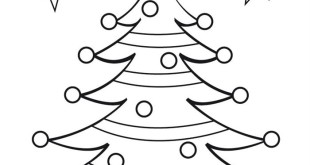 Beautiful Xmas Tree Pictures To Colour