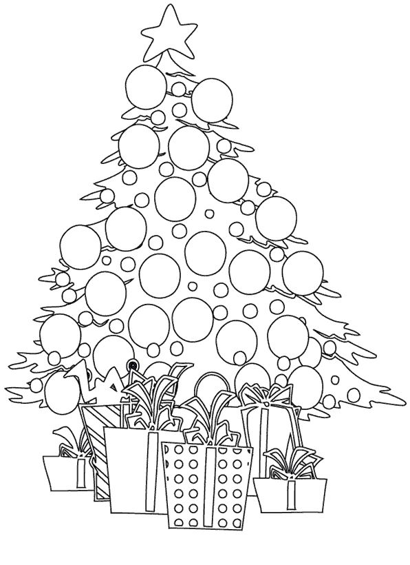 Best Free Xmas Tree Pictures To Colour