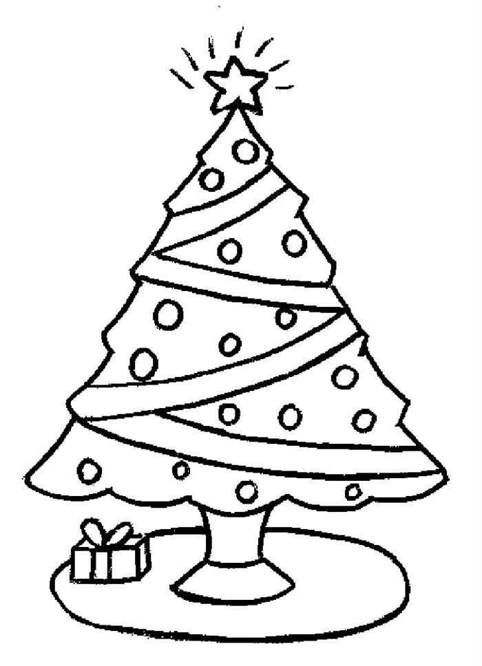 Unqiue Xmas Tree Pictures To Colour Free