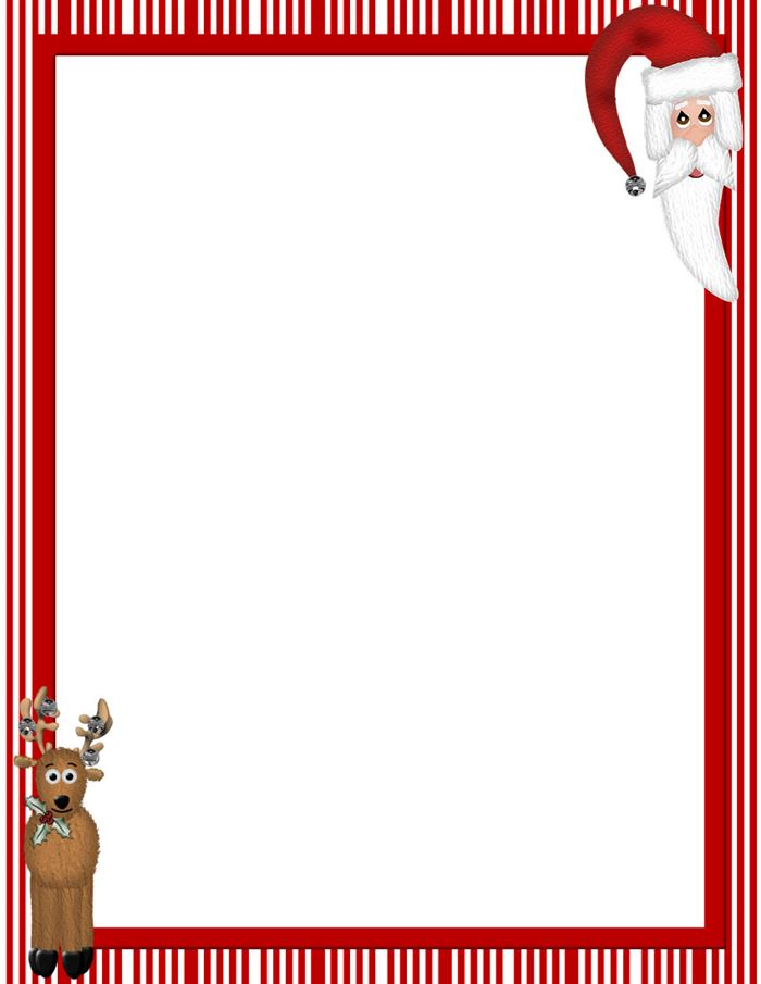 Free Beautiful Christmas Border Templates For Microsoft Word