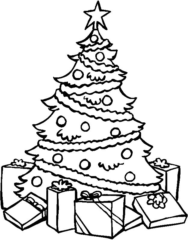 Black And White Christmas Tree Pictures To Print Free