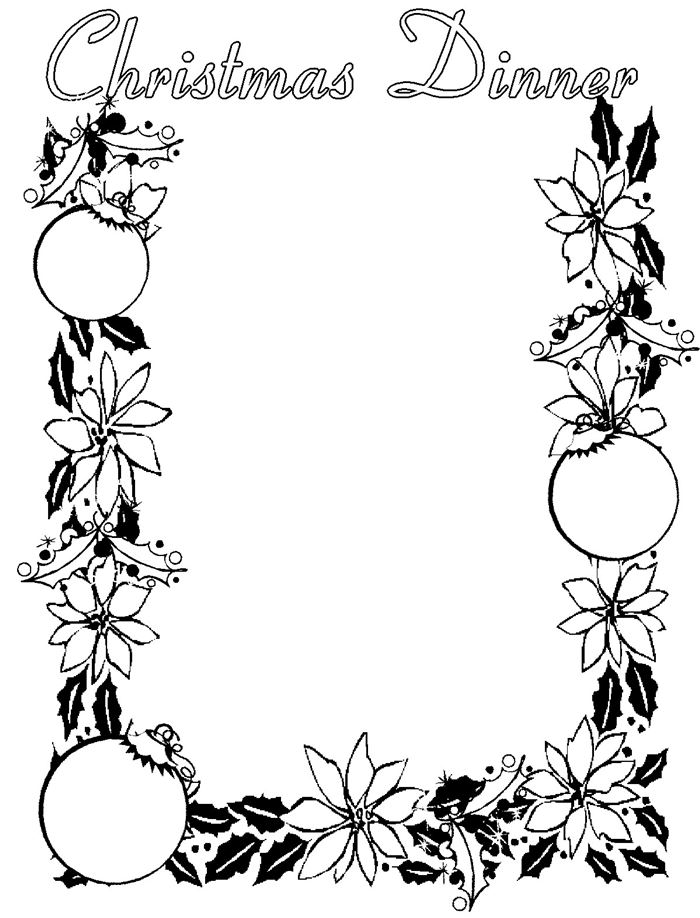 Christmas Border Templates Black And White