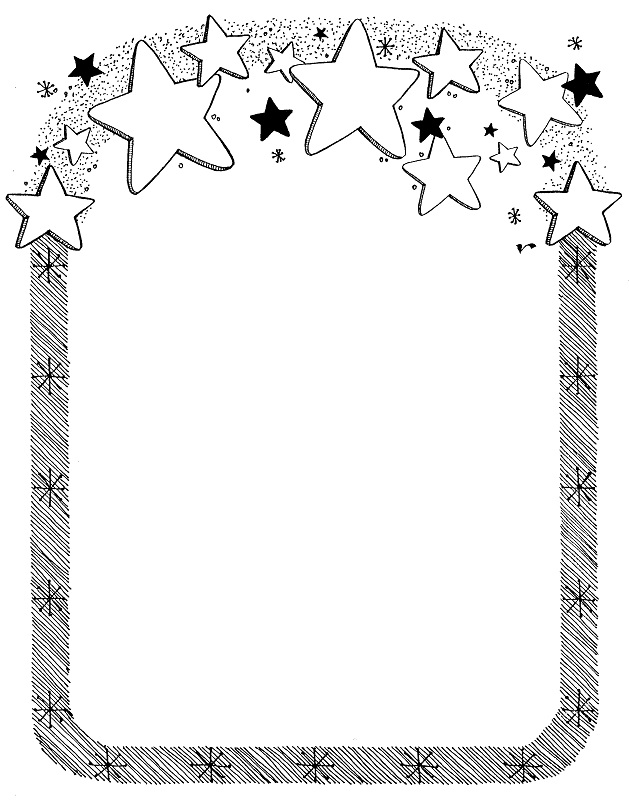 Unique Christmas Border Templates Black And White Free