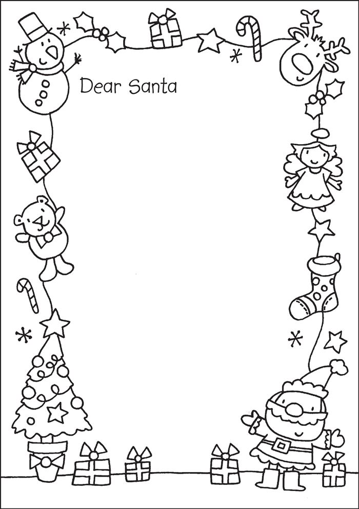 Christmas Borders Clip Art Black And White