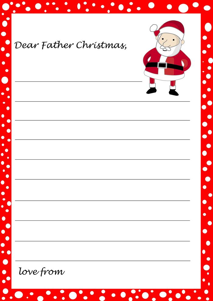 Best Free Christmas Borders For Letters From Santa
