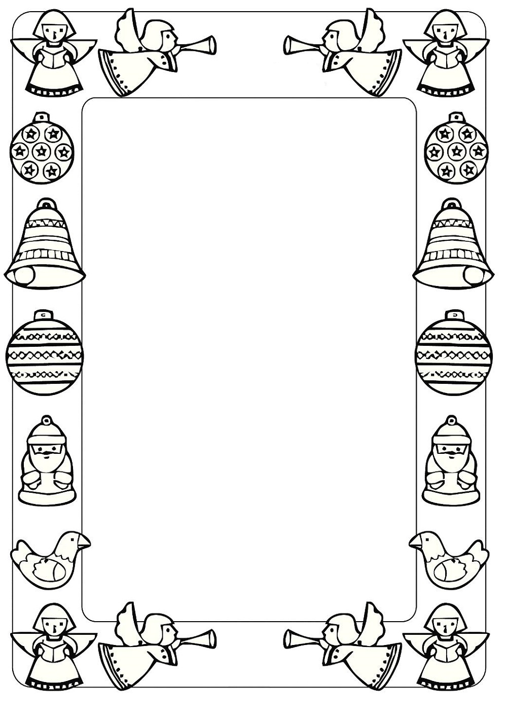 Beautiful Black And White Christmas Border Clip Art