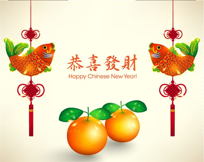 Unique Chinese New Year Greeting Card Vector
