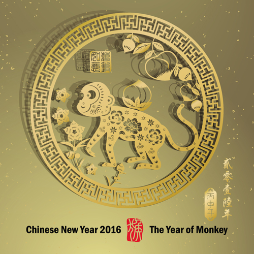 Beautiful Chinese New Year Monkey Pictures