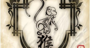 Beautiful Happy Chinese New Year Symbols Monkey