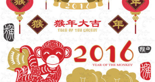 Free Happy Chinese New Year Monkeys Pictures