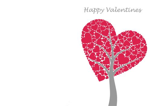 Lovely Printable Valentine's Day Card Templates