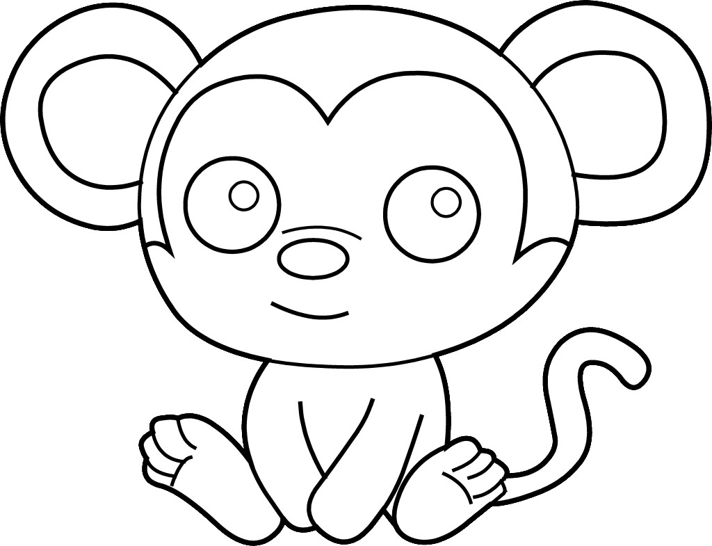 Best Free Happy Chinese New Year Monkey Coloring Pages