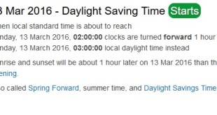 When Does Daylight Savings Time In Ottawa, Canada?